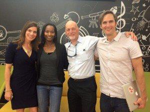 CMO-Katie Bisbee, me, Board of Directors Chair-Peter Bloom, CEO- Charles Best