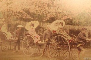 The early days of riding a rickshaw