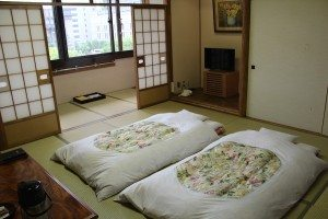 Our ryokan (Japanese style hotel room)
