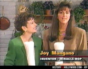 The real Joy Mangano in 1996 selling her mop on QVC.